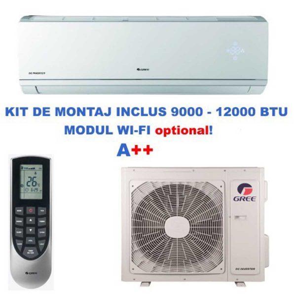 Aparat de aer conditionat tip split Gree Lomo GWH09QB-K3DNB8C Inverter 9000 BTU 2