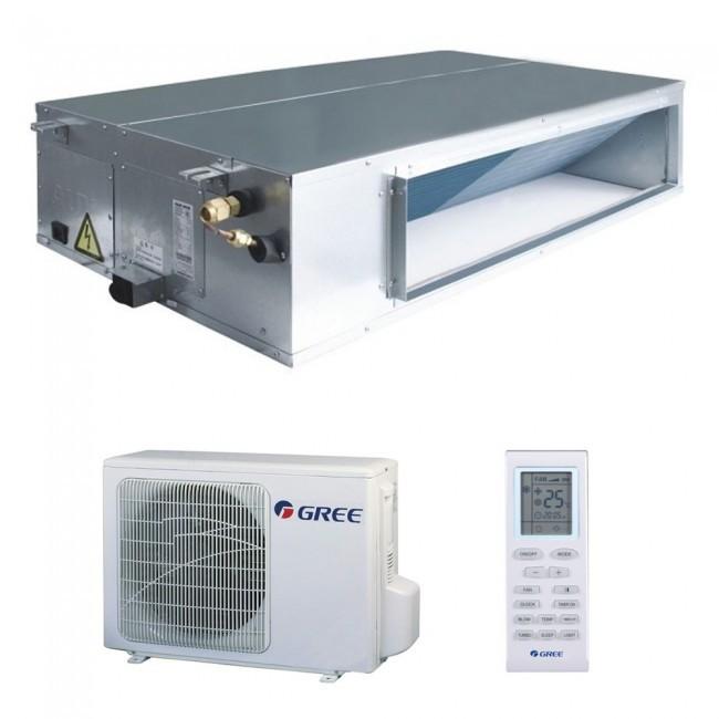 Aparat de aer conditionat tip duct Gree GFH24K3FI-GUHD24NK3FO Inverter 24000 BTU 24