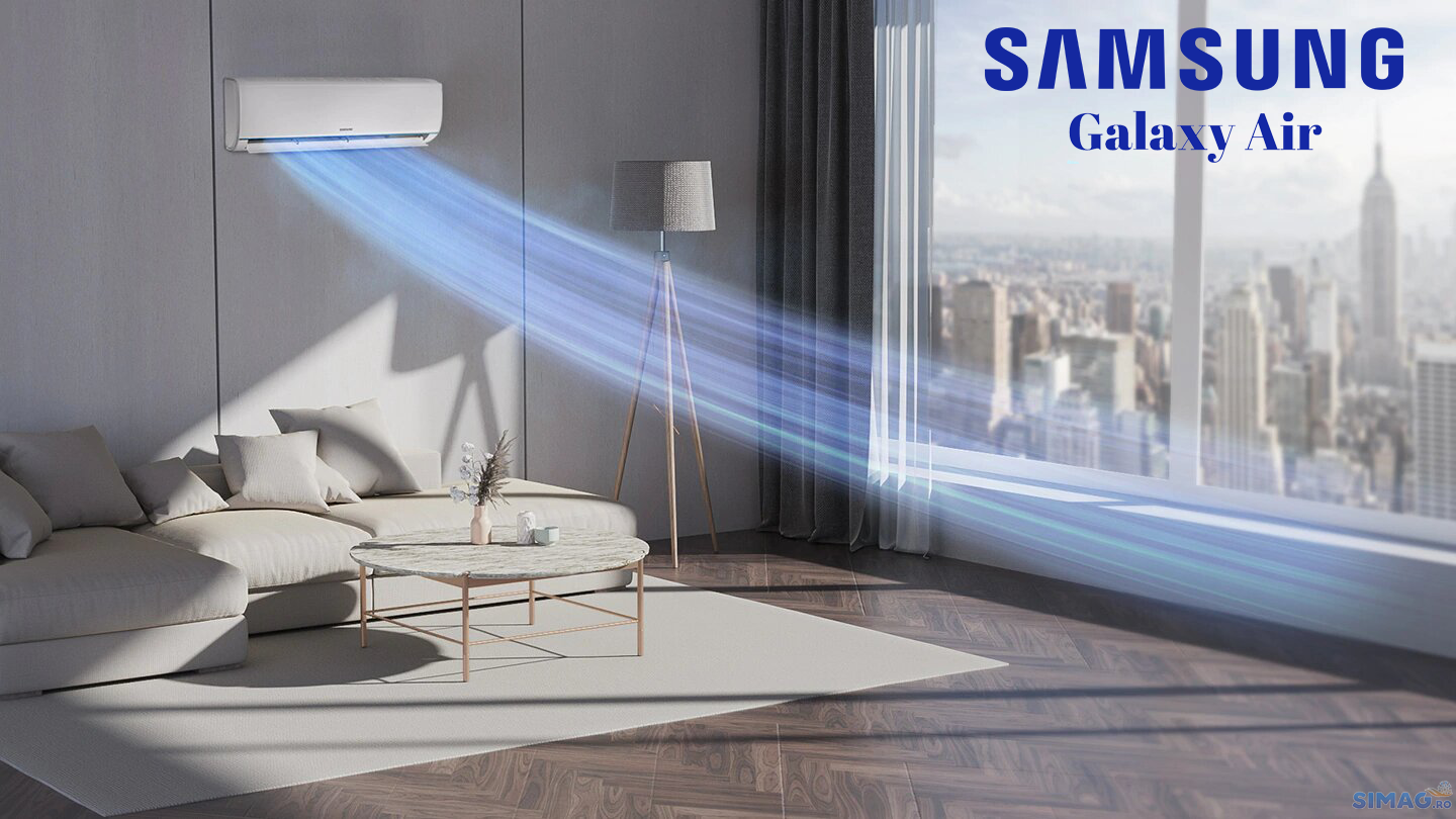 Aparat de aer conditionat tip split Samsung Galaxy Air, Racire Rapida, Filtru Hd, Clasa A++, R32 24