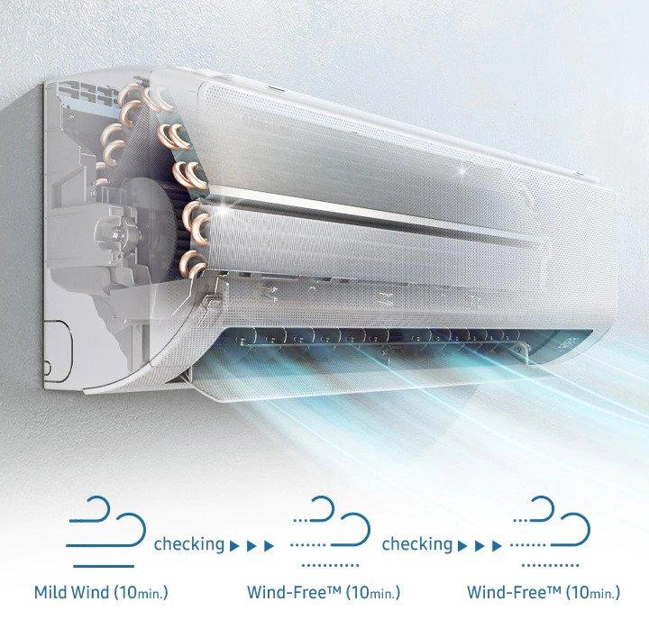 Aparat de aer conditionat Samsung Wind-Free Comfort, Clasa A++, Smart control Wi-Fi, Easy Filter Plus, R32, Alb 23