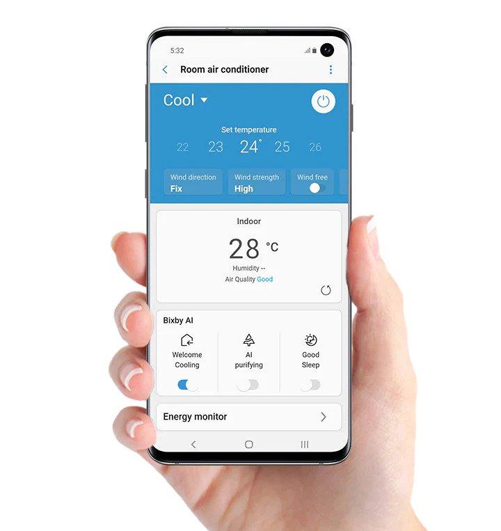 Aparat de aer conditionat Samsung Wind-Free Comfort, Clasa A++, Smart control Wi-Fi, Easy Filter Plus, R32, Alb 29